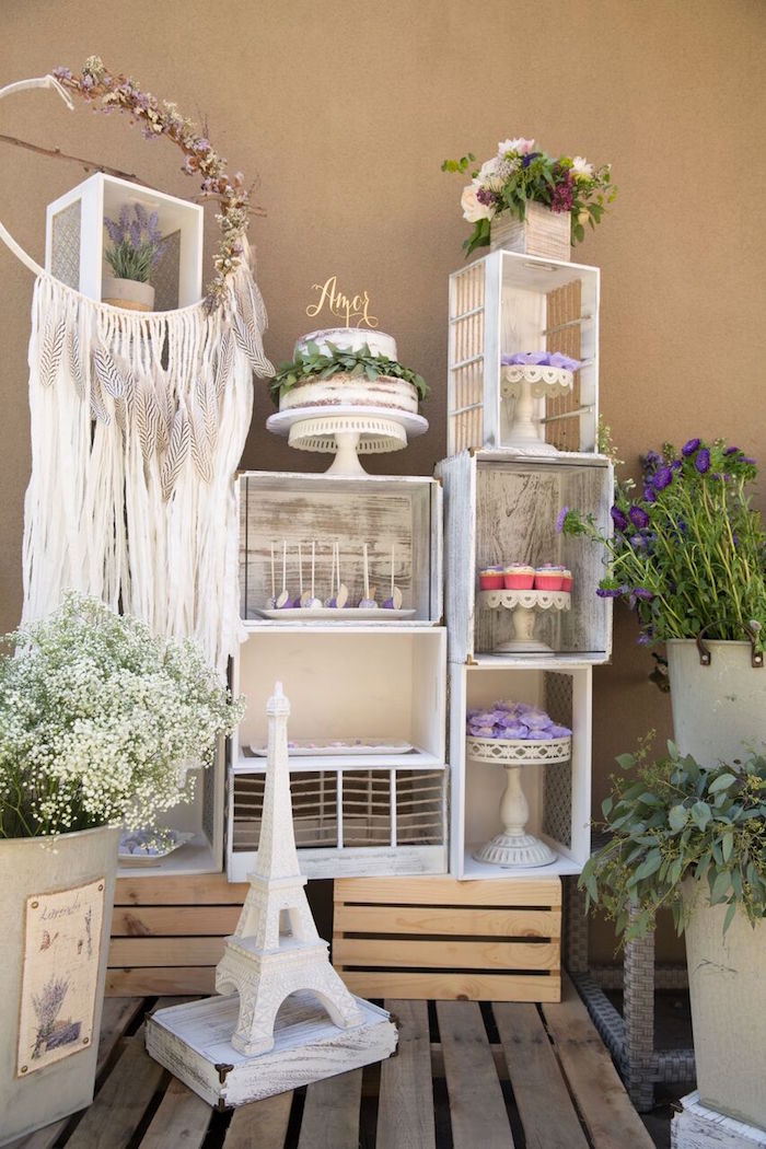 Kara S Party Ideas French Country Bohemian Bridal Shower