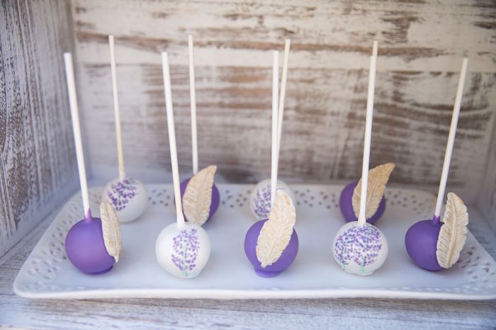 Boho-inspired cake pops from a French Country Bohemian Bridal Shower via Kara's Party Ideas | KarasPartyIdeas.com (4)