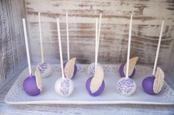 Boho-inspired cake pops from a French Country Bohemian Bridal Shower via Kara's Party Ideas | KarasPartyIdeas.com (4)