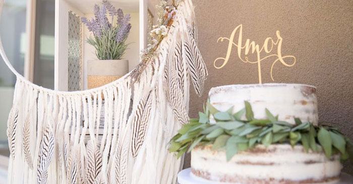 Gorgeous Bohemian details from a French Country Bohemian Bridal Shower via Kara's Party Ideas | KarasPartyIdeas.com (3)