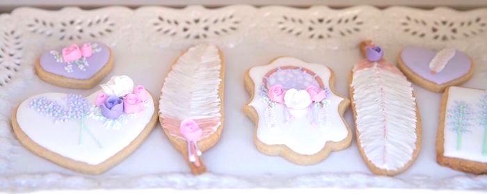 Boho cookies from a French Country Bohemian Bridal Shower via Kara's Party Ideas | KarasPartyIdeas.com (32)