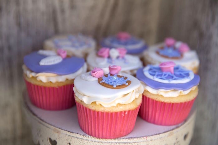 Cupcakes from a French Country Bohemian Bridal Shower via Kara's Party Ideas | KarasPartyIdeas.com (31)