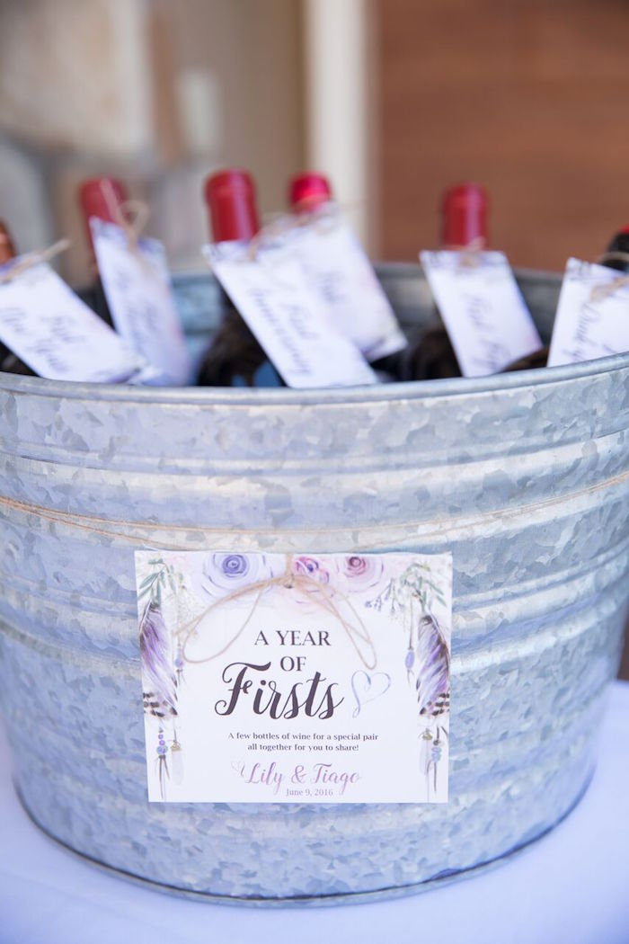 Drink stationery from a French Country Bohemian Bridal Shower via Kara's Party Ideas | KarasPartyIdeas.com (28)