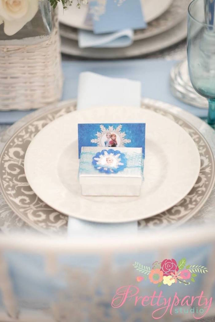 Place setting from a Frozen Birthday Party via Kara's Party Ideas KarasPartyIdeas.com (22)