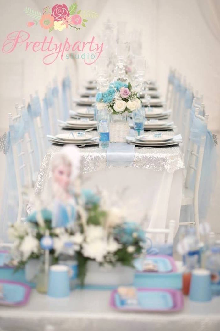 Dining tablescape from a Frozen Birthday Party via Kara's Party Ideas KarasPartyIdeas.com (17)