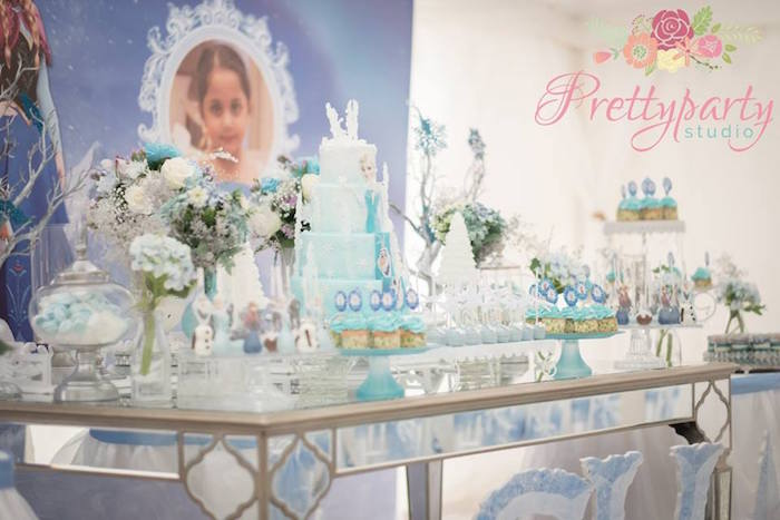Frozen inspired sweet table from a Frozen Birthday Party via Kara's Party Ideas KarasPartyIdeas.com (16)