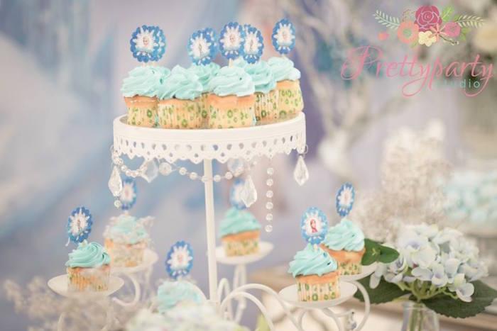Cupcakes from a Frozen Birthday Party via Kara's Party Ideas KarasPartyIdeas.com (13)