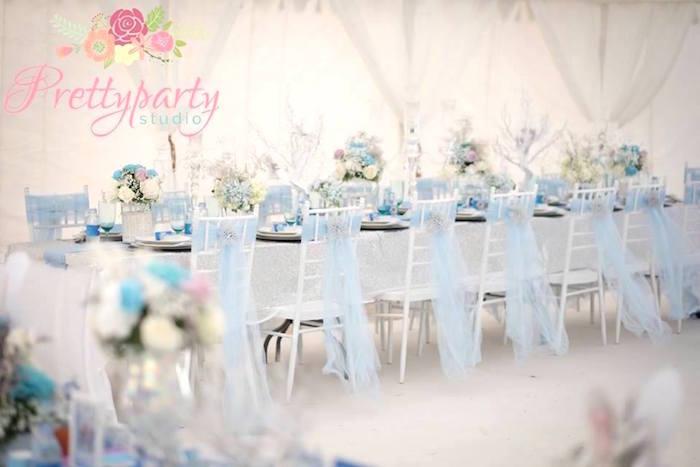 07a519718 Frozen-inspired dining table from a Frozen Birthday Party via Kara's Party  Ideas KarasPartyIdeas.