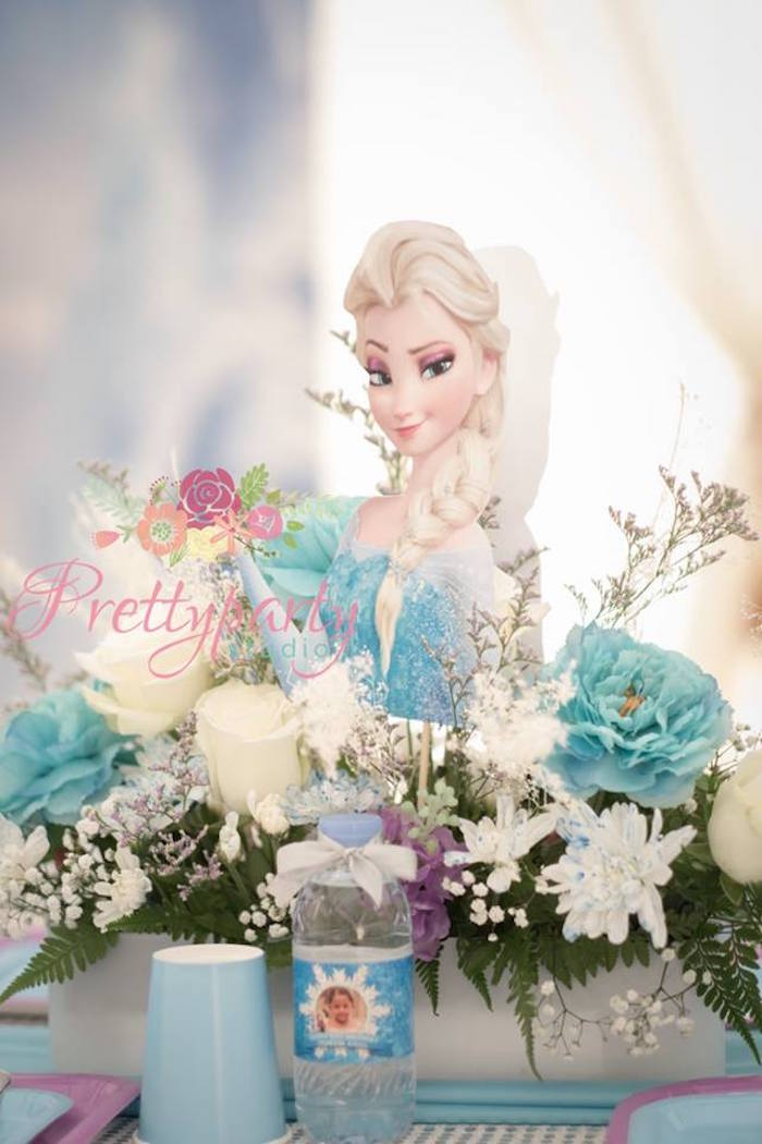 Elsa centerpiece from a Frozen Birthday Party via Kara's Party Ideas KarasPartyIdeas.com (36)