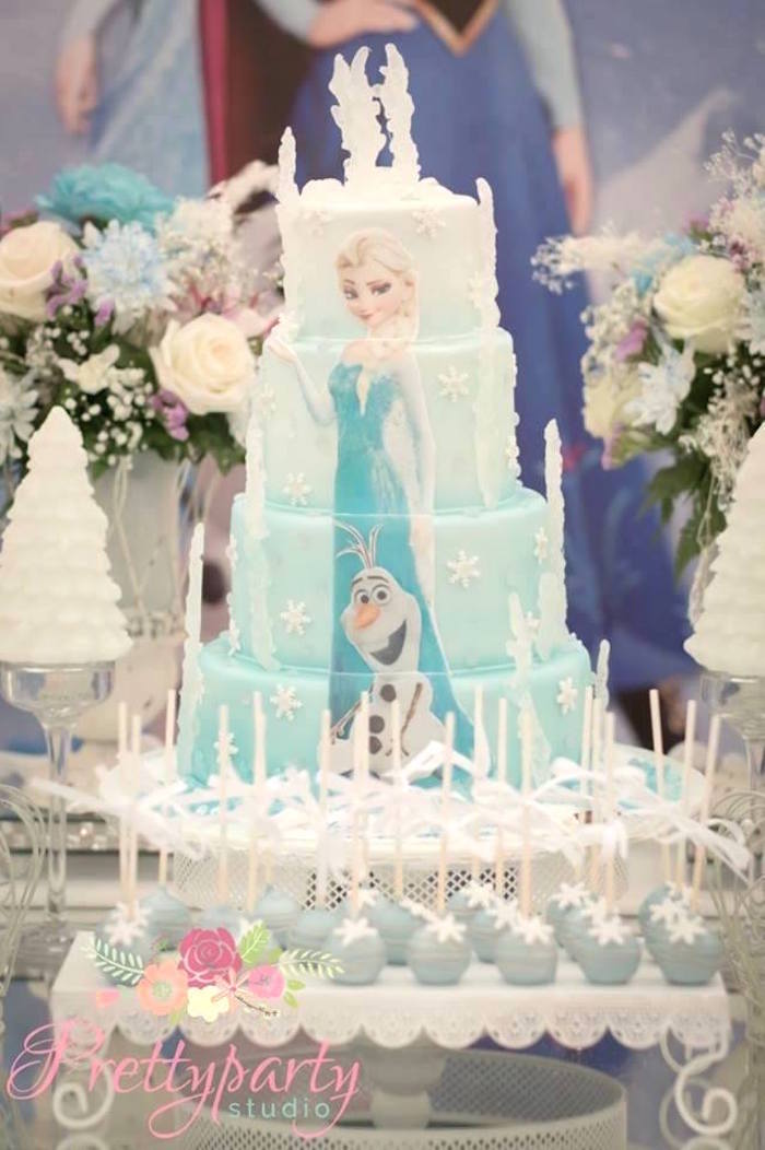 Cake from a Frozen Birthday Party via Kara's Party Ideas KarasPartyIdeas.com (7)