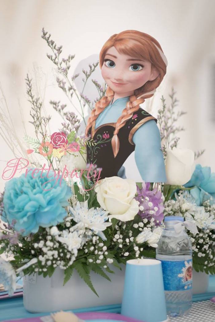 Anna table centerpiece from a Frozen Birthday Party via Kara's Party Ideas KarasPartyIdeas.com (6)