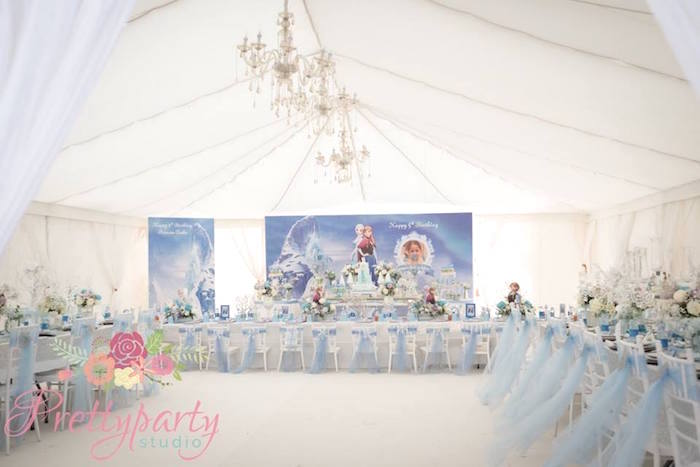Frozen partyscape from a Frozen Birthday Party via Kara's Party Ideas KarasPartyIdeas.com (5)