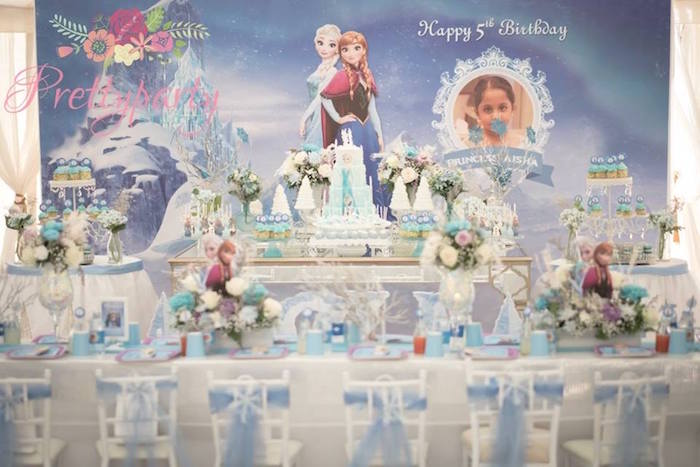 Party Tables from a Frozen Birthday Party via Kara's Party Ideas KarasPartyIdeas.com (3)