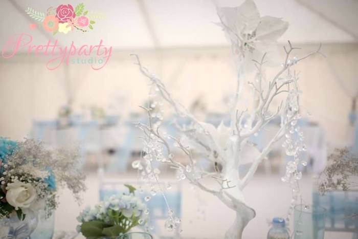 Crystal tree centerpiece from a Frozen Birthday Party via Kara's Party Ideas KarasPartyIdeas.com (34)