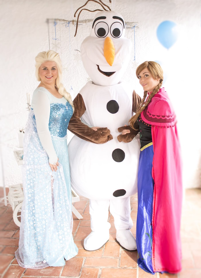 Elsa, Olaf and Anna from a Frozen Birthday Tea Party via Kara's Party Ideas KarasPartyIdeas.com (4)