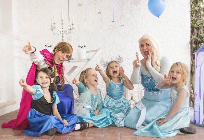Guests from a Frozen Birthday Tea Party via Kara's Party Ideas KarasPartyIdeas.com (3)