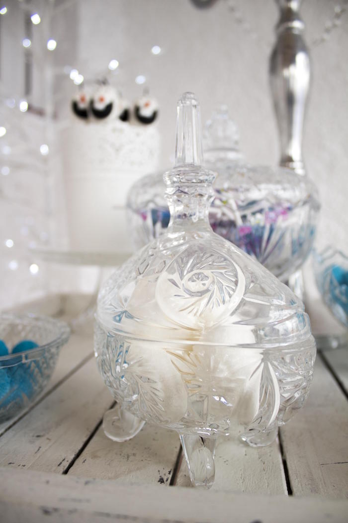Glassware from a Frozen Birthday Tea Party via Kara's Party Ideas KarasPartyIdeas.com (7)