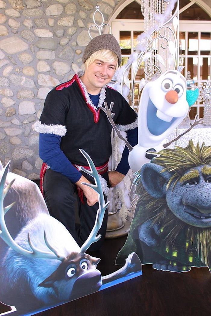 Frozen character cut-outs + Kristoff from a Frozen Themed Joint Birthday Party via Kara's Party Ideas | KarasPartyIdeas.com (15)