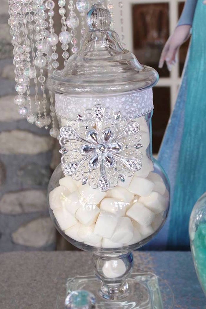 Marshmallows from a Frozen Themed Joint Birthday Party via Kara's Party Ideas | KarasPartyIdeas.com (5)