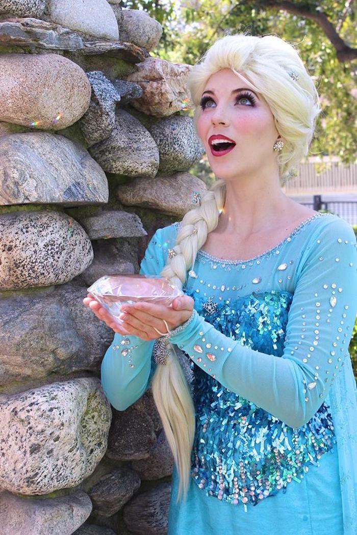 Elsa from a Frozen Themed Joint Birthday Party via Kara's Party Ideas | KarasPartyIdeas.com (22)