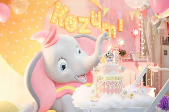 Cake display from a Girly Circus + Dumbo Birthday Party via Kara's Party Ideas | KarasPartyIdeas.com (13)