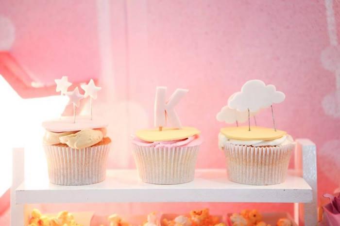 Cupcakes from a Girly Circus + Dumbo Birthday Party via Kara's Party Ideas | KarasPartyIdeas.com (4)