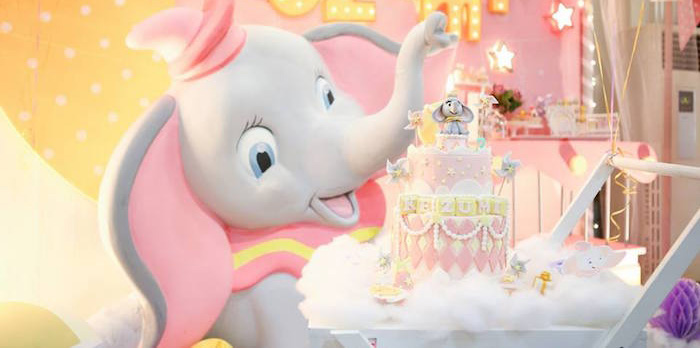 Girly Circus + Dumbo Birthday Party via Kara's Party Ideas | KarasPartyIdeas.com (1)