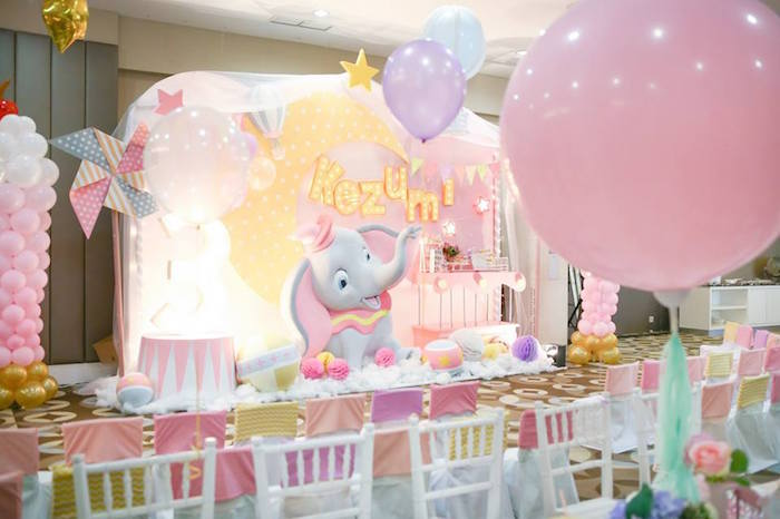 Girly Circus + Dumbo Birthday Party via Kara's Party Ideas | KarasPartyIdeas.com (22)
