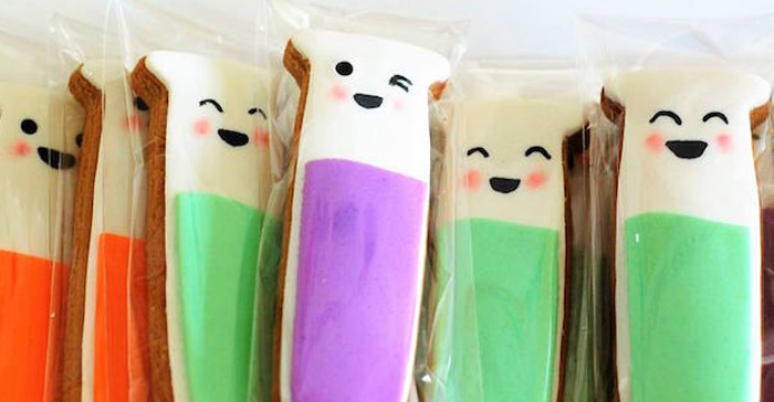 Test tube cookies from a Girly Science Themed Birthday Party via Kara's Party Ideas KarasPartyIdeas.com (1)