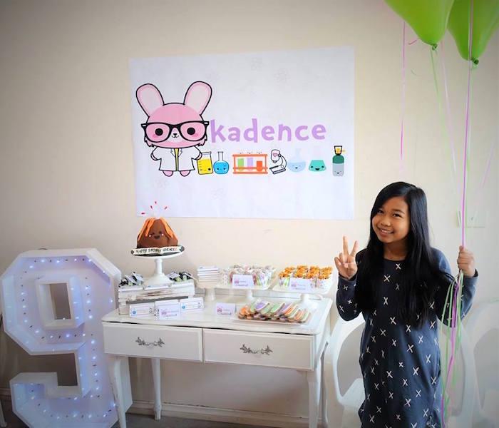 Girly Science Themed Birthday Party via Kara's Party Ideas KarasPartyIdeas.com (11)
