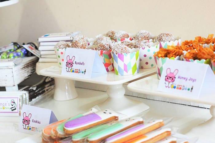 Sweet treats from a Girly Science Themed Birthday Party via Kara's Party Ideas KarasPartyIdeas.com (9)