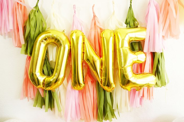 Banners from a Glamorous Tropical Flamingo Birthday Party via Kara's Party Ideas | KarasPartyIdeas.com | The Place for All Things Party! (8)