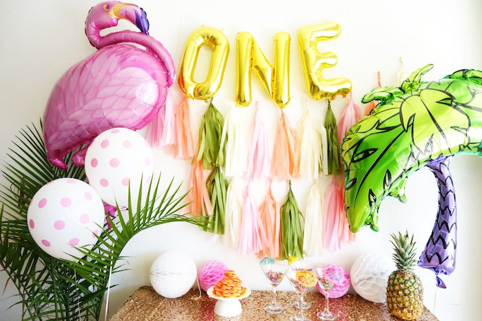 Glamorous Tropical Flamingo Birthday Party via Kara's Party Ideas | KarasPartyIdeas.com | The Place for All Things Party! (20)