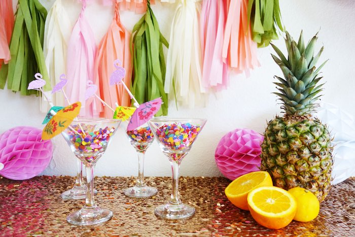 Party details from a Glamorous Tropical Flamingo Birthday Party via Kara's Party Ideas | KarasPartyIdeas.com | The Place for All Things Party! (16)