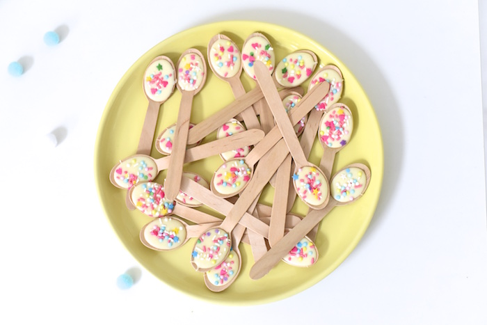 Chocolate filled wooden spoons from a Happy Balloons Birthday Party via Kara's Party Ideas KarasPartyIdeas.com (14)