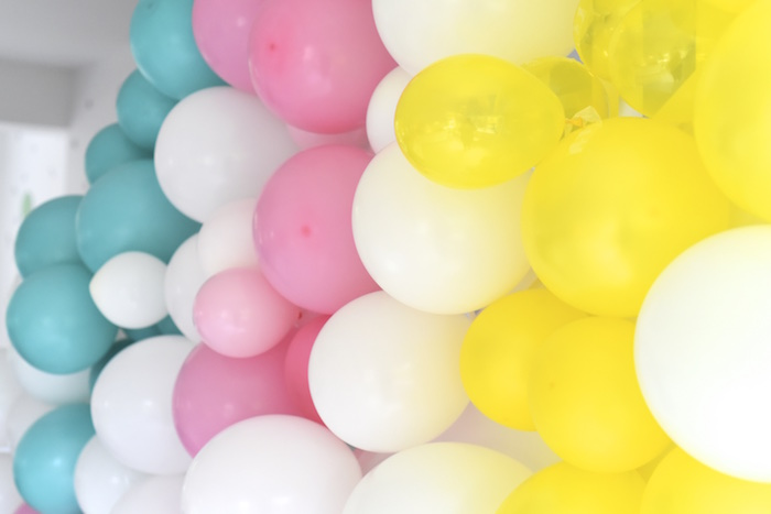 Balloon wall from a Happy Balloons Birthday Party via Kara's Party Ideas KarasPartyIdeas.com (11)