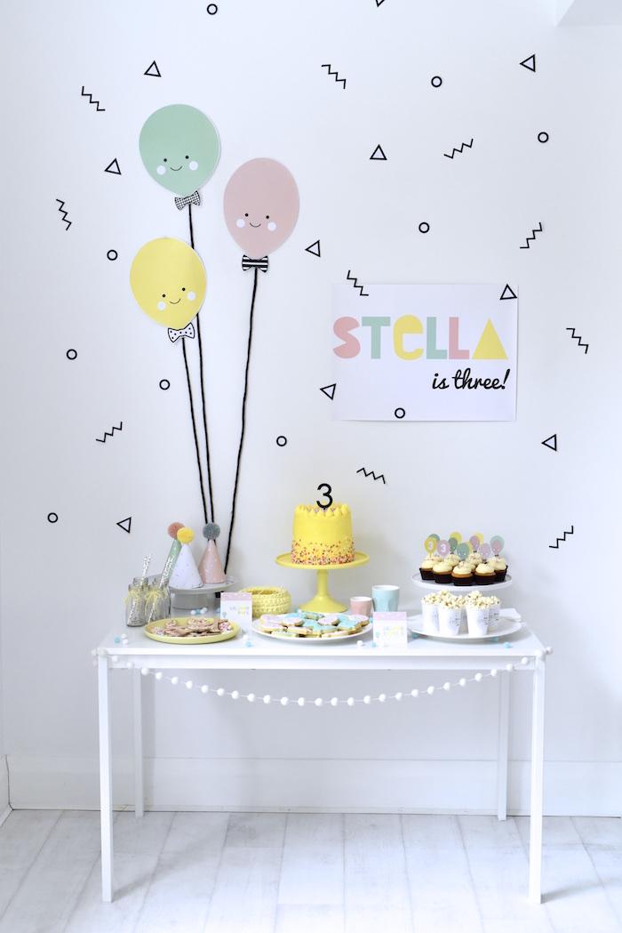 Happy Balloons Birthday Party via Kara's Party Ideas KarasPartyIdeas.com (7)