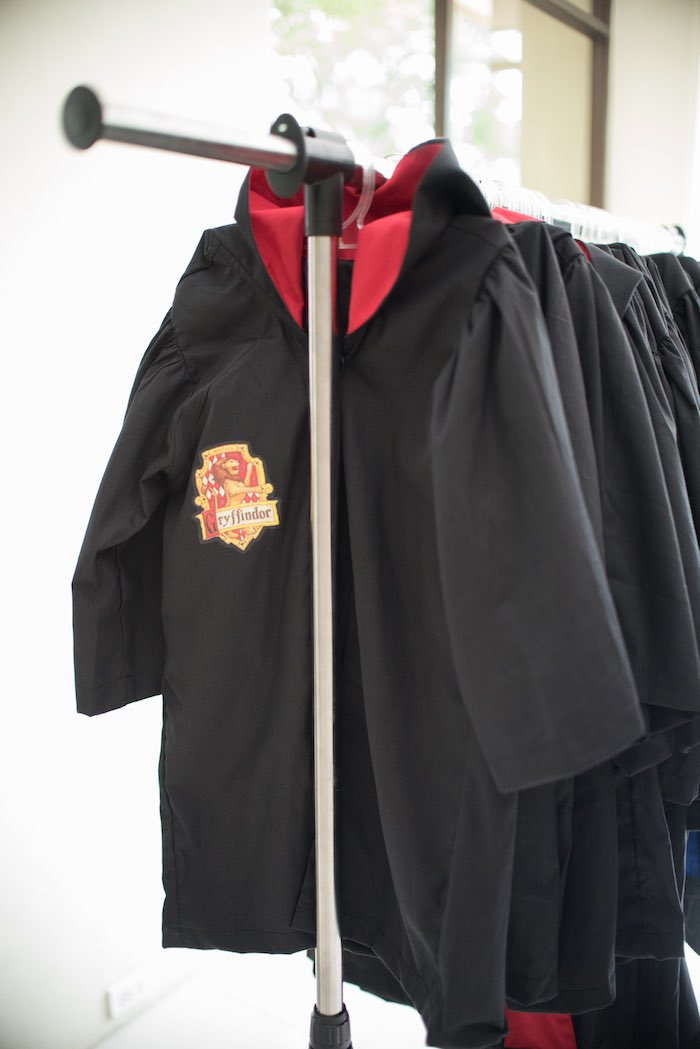 Gryffindor house robes from a Honeydukes Hogwarts & Harry Birthday Party via Kara's Party Ideas | KarasPartyIdeas.com (27)