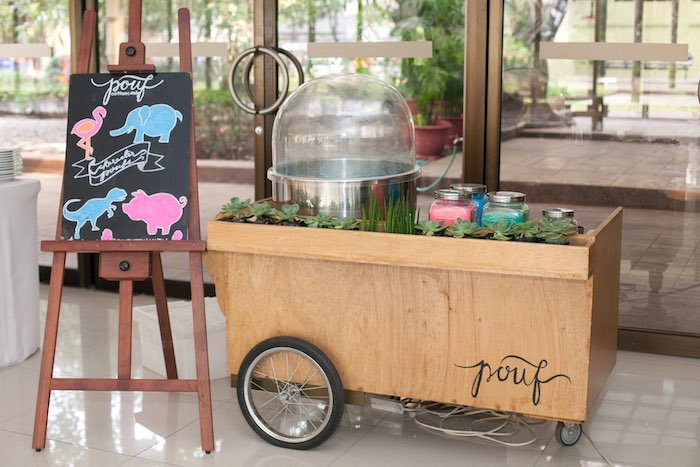 Cotton candy cart from a Honeydukes Hogwarts & Harry Birthday Party via Kara's Party Ideas | KarasPartyIdeas.com (20)