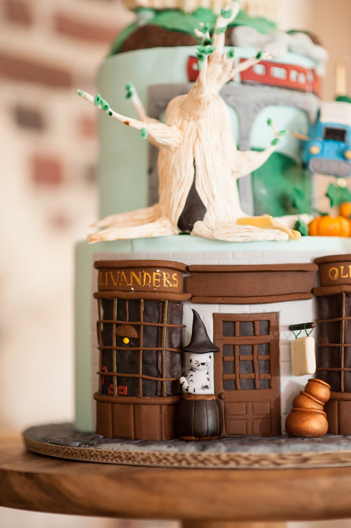 Cake detail from a Harry Potter Birthday Party via Kara's Party Ideas | KarasPartyIdeas.com (10)
