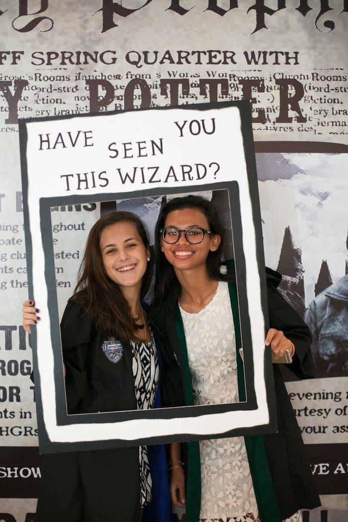 Photo op from a Honeydukes Hogwarts & Harry Birthday Party via Kara's Party Ideas   KarasPartyIdeas.com (6)