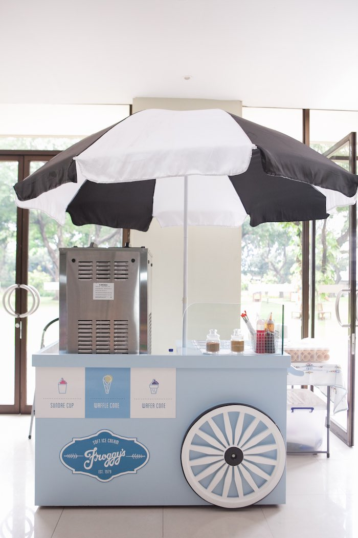 Ice cream cart from a Harry Potter Birthday Party via Kara's Party Ideas | KarasPartyIdeas.com (44)