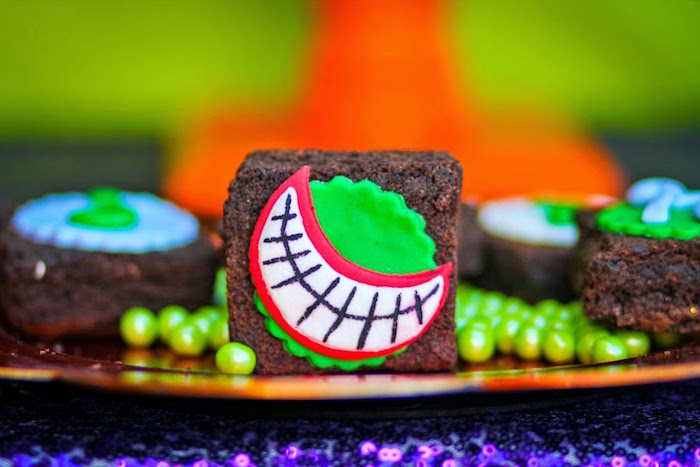 Brownie from a Joker Inspired Mad Love Birthday Party via Kara's Party Ideas | KarasPartyIdeas.com - The Place for All Things Party! (51)