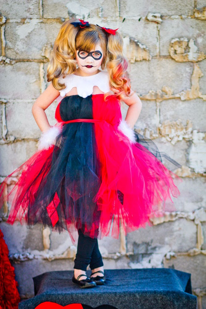 Harley Quinn from a Joker Inspired Mad Love Birthday Party via Kara's Party Ideas | KarasPartyIdeas.com - The Place for All Things Party! (25)