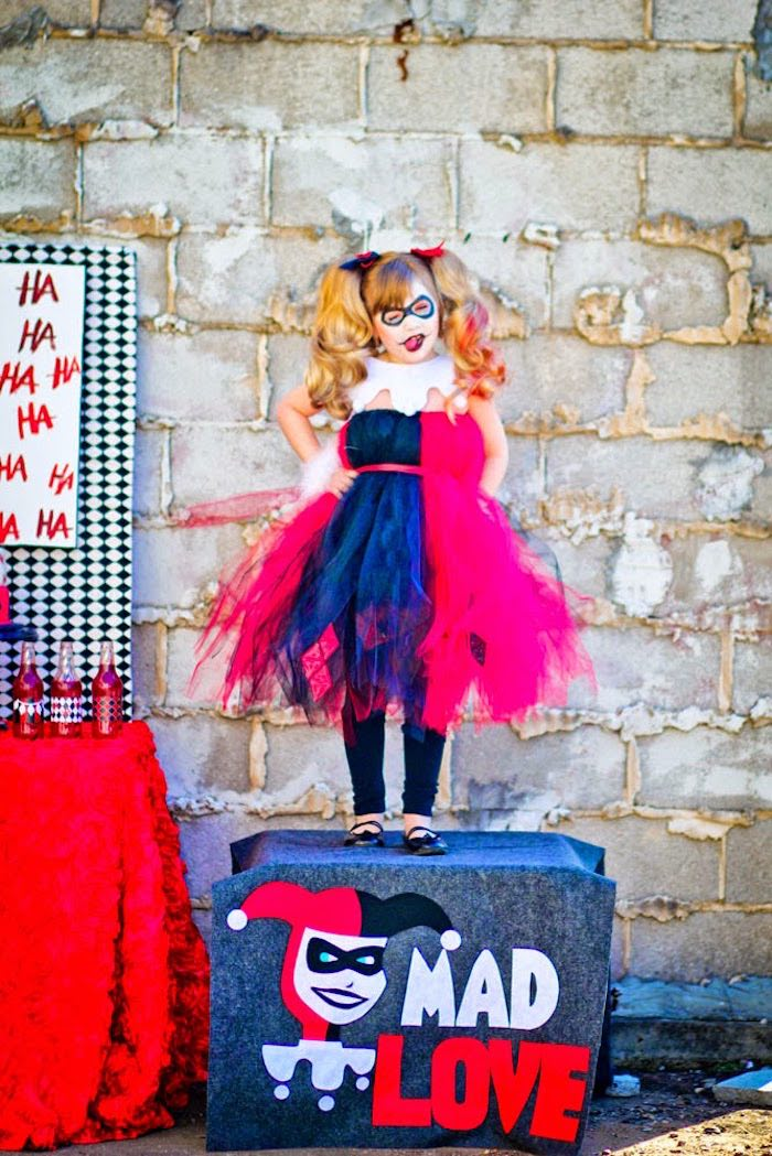 Harley Quinn from a Joker Inspired Mad Love Birthday Party via Kara's Party Ideas | KarasPartyIdeas.com - The Place for All Things Party! (24)