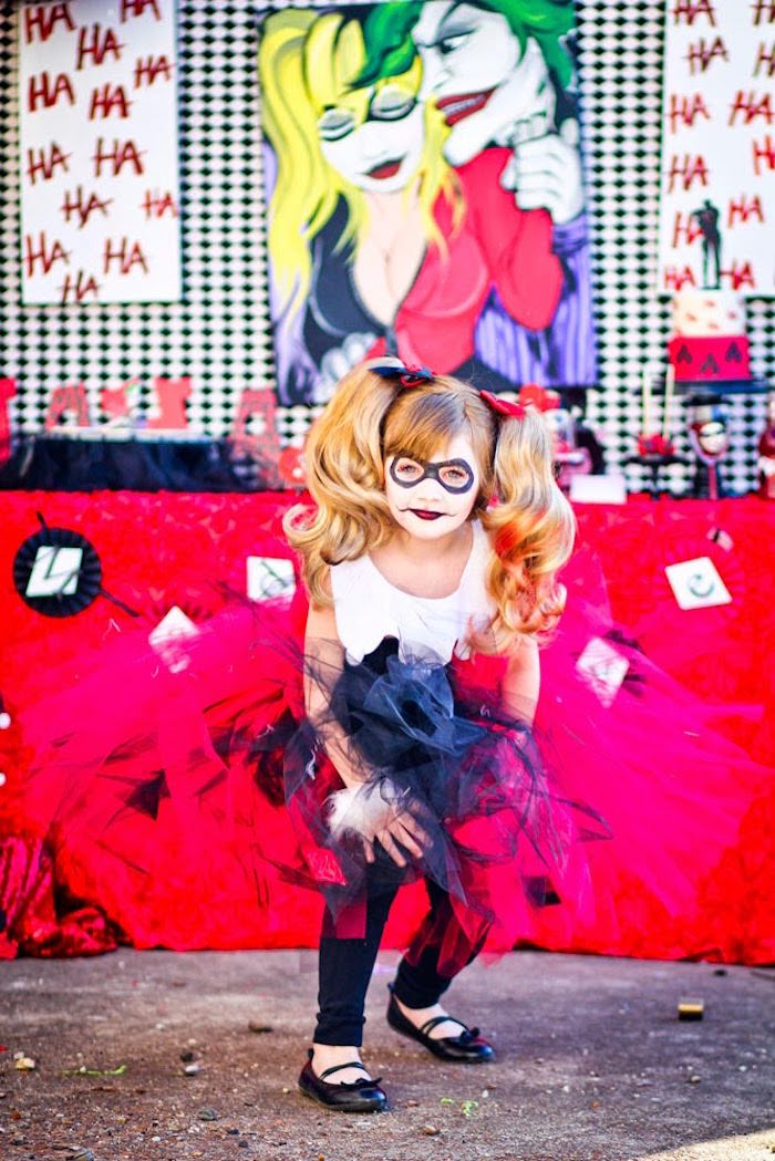 Harley Quinn from a Joker Inspired Mad Love Birthday Party via Kara's Party Ideas | KarasPartyIdeas.com - The Place for All Things Party! (22)
