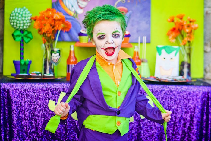 The Joker from a Joker Inspired Mad Love Birthday Party via Kara's Party Ideas | KarasPartyIdeas.com - The Place for All Things Party! (21)