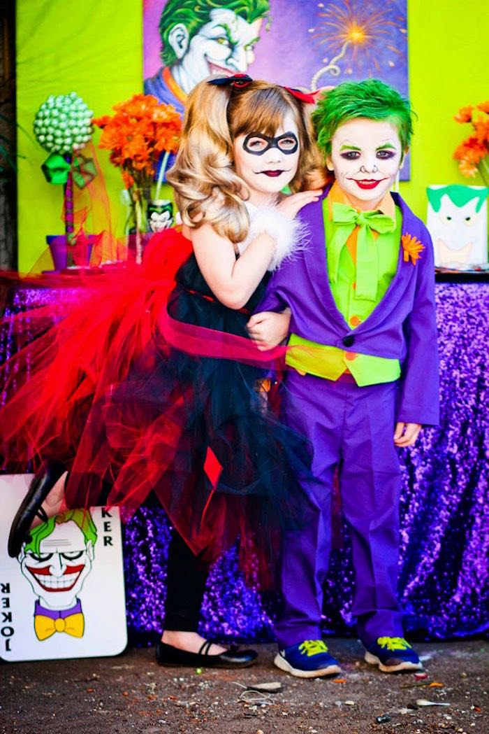Harley & The Joker from a Joker Inspired Mad Love Birthday Party via Kara's Party Ideas | KarasPartyIdeas.com - The Place for All Things Party! (16)