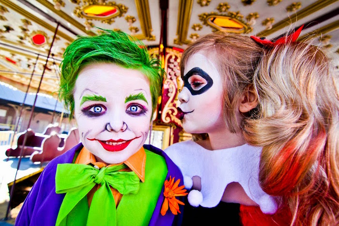 The Joker + Harley Quinn from a Joker Inspired Mad Love Birthday Party via Kara's Party Ideas | KarasPartyIdeas.com - The Place for All Things Party! (14)