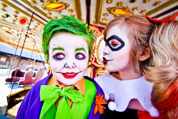 The Joker + Harley Quinn from a Joker Inspired Mad Love Birthday Party via Kara's Party Ideas | KarasPartyIdeas.com - The Place for All Things Party! (13)